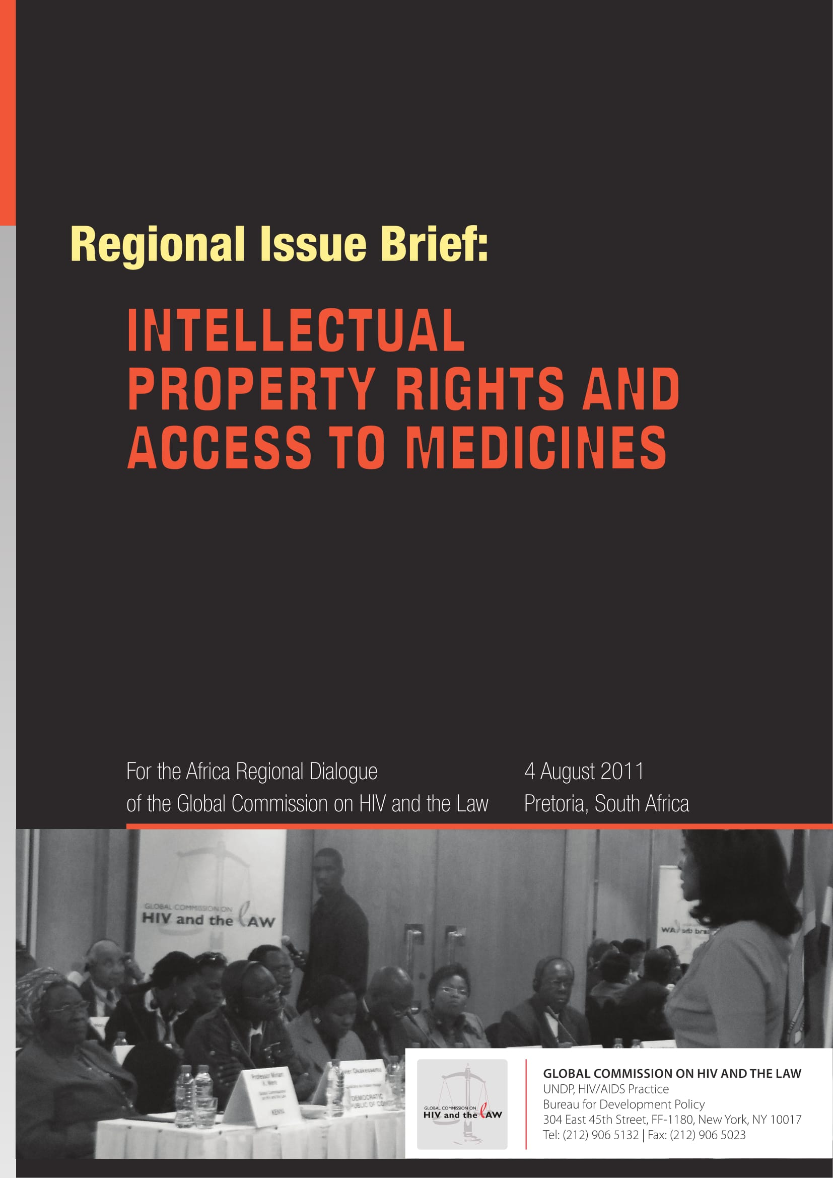 Regional issues brief: Intellectual property rights and access to medicines