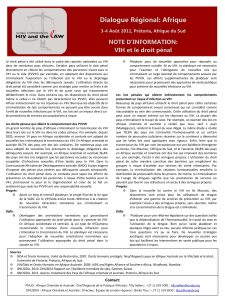 HIV and the Law in Africa: Factsheet – Criminalisation