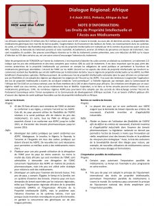 HIV and the Law in Africa: Factsheet – Intellectual Property Rights and Access to Medicines