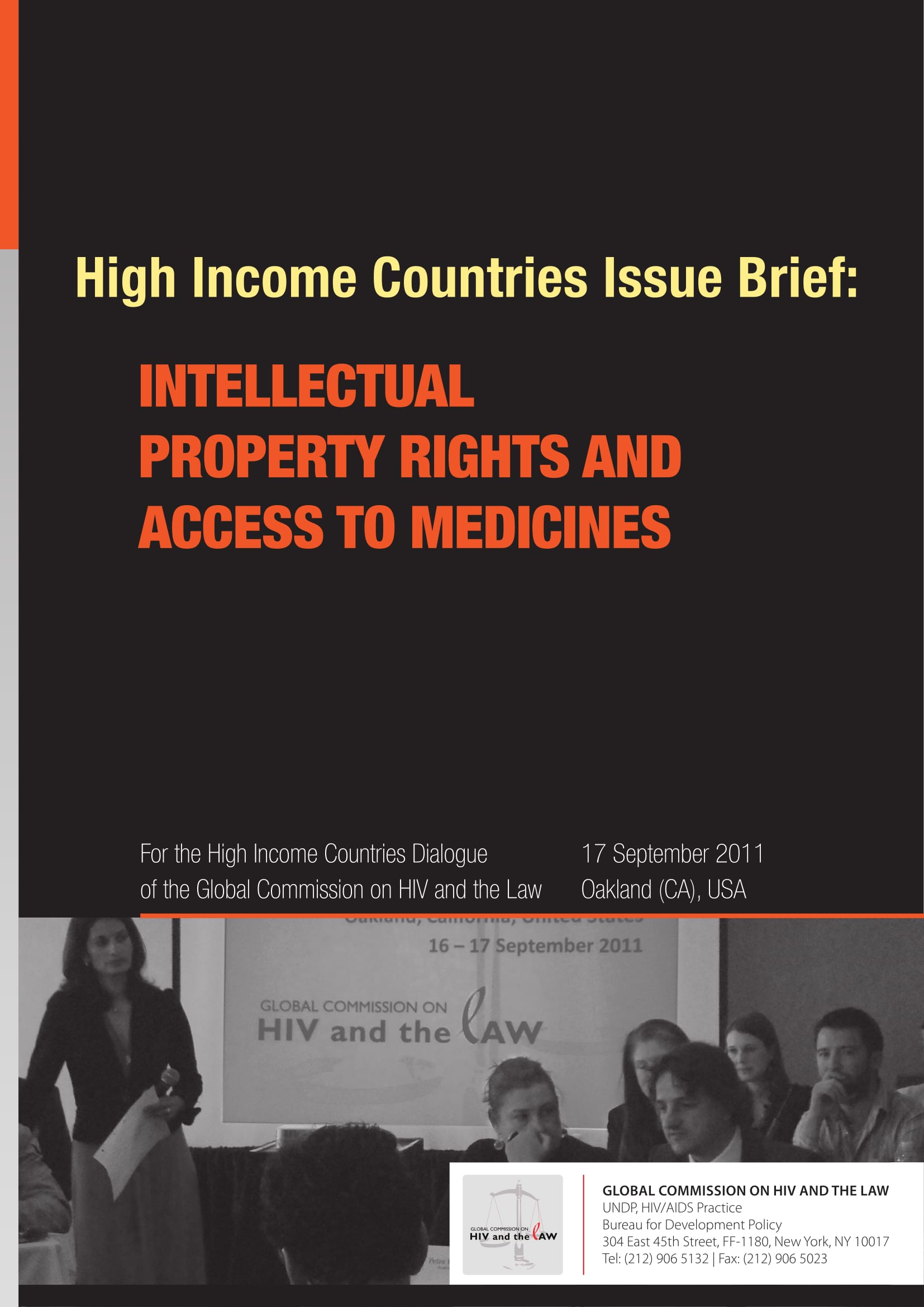 High Income Countries Issue Brief: Intellectual property rights and access to medicines