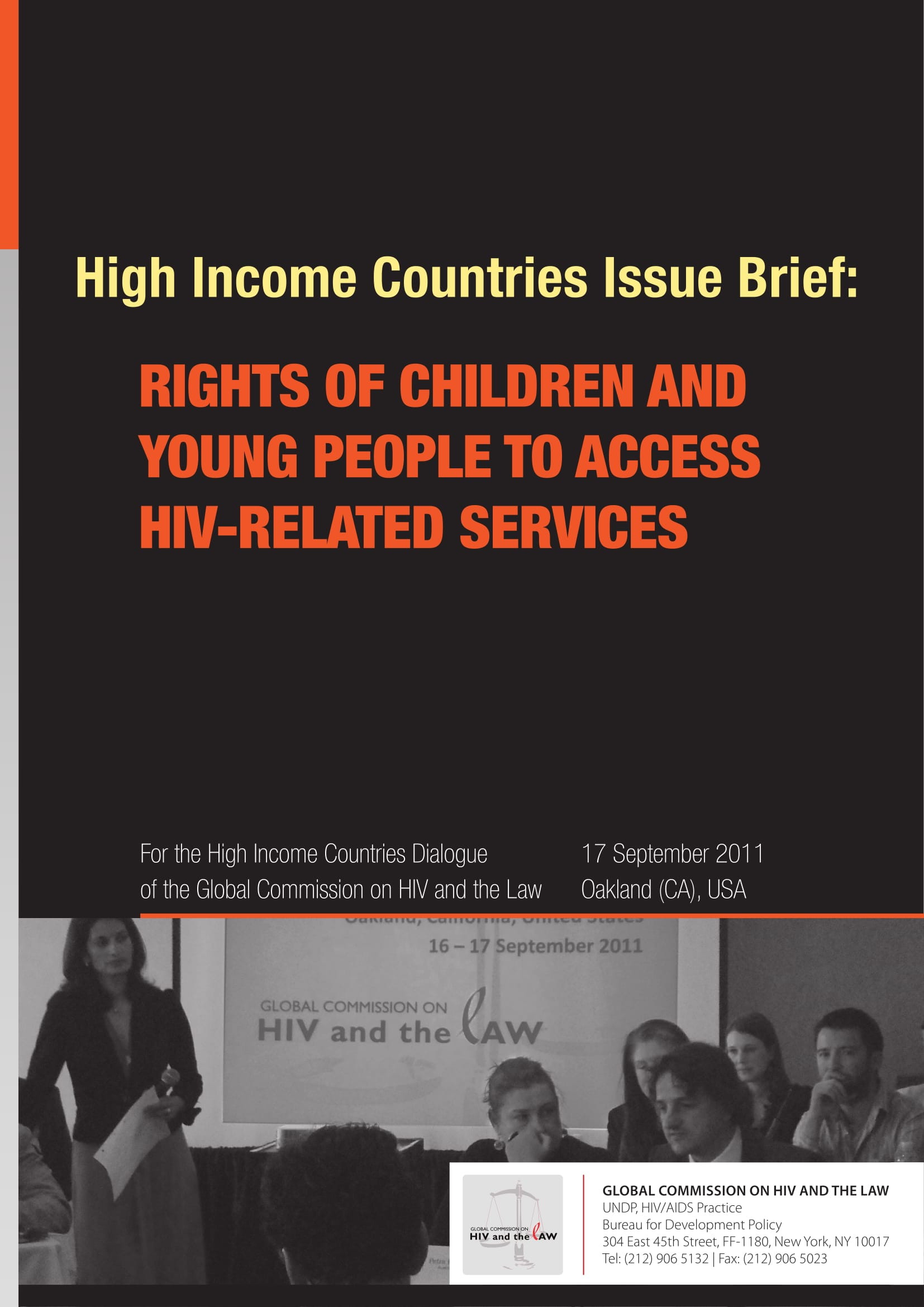 High Income Countries Issue Brief: Rights of children and young people to access HIV-related services