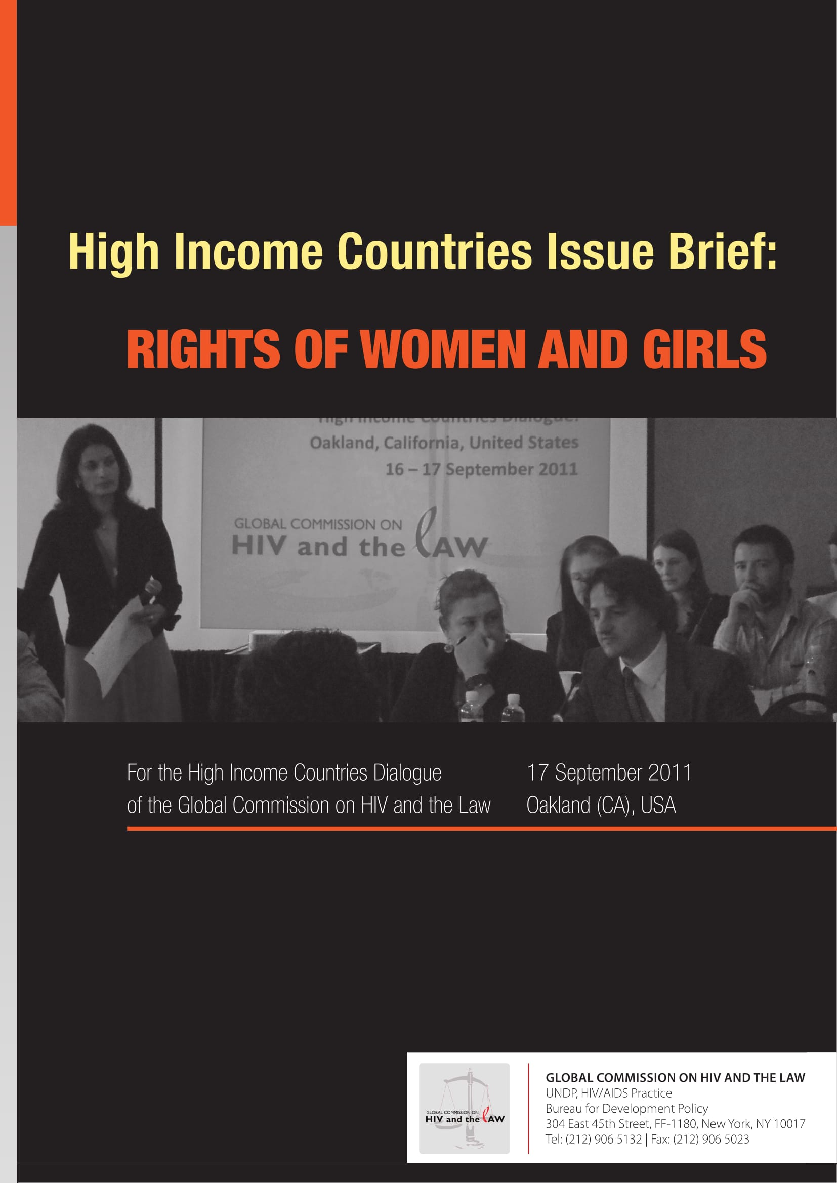 High Income Countries Issue Brief: Rights of women and girls