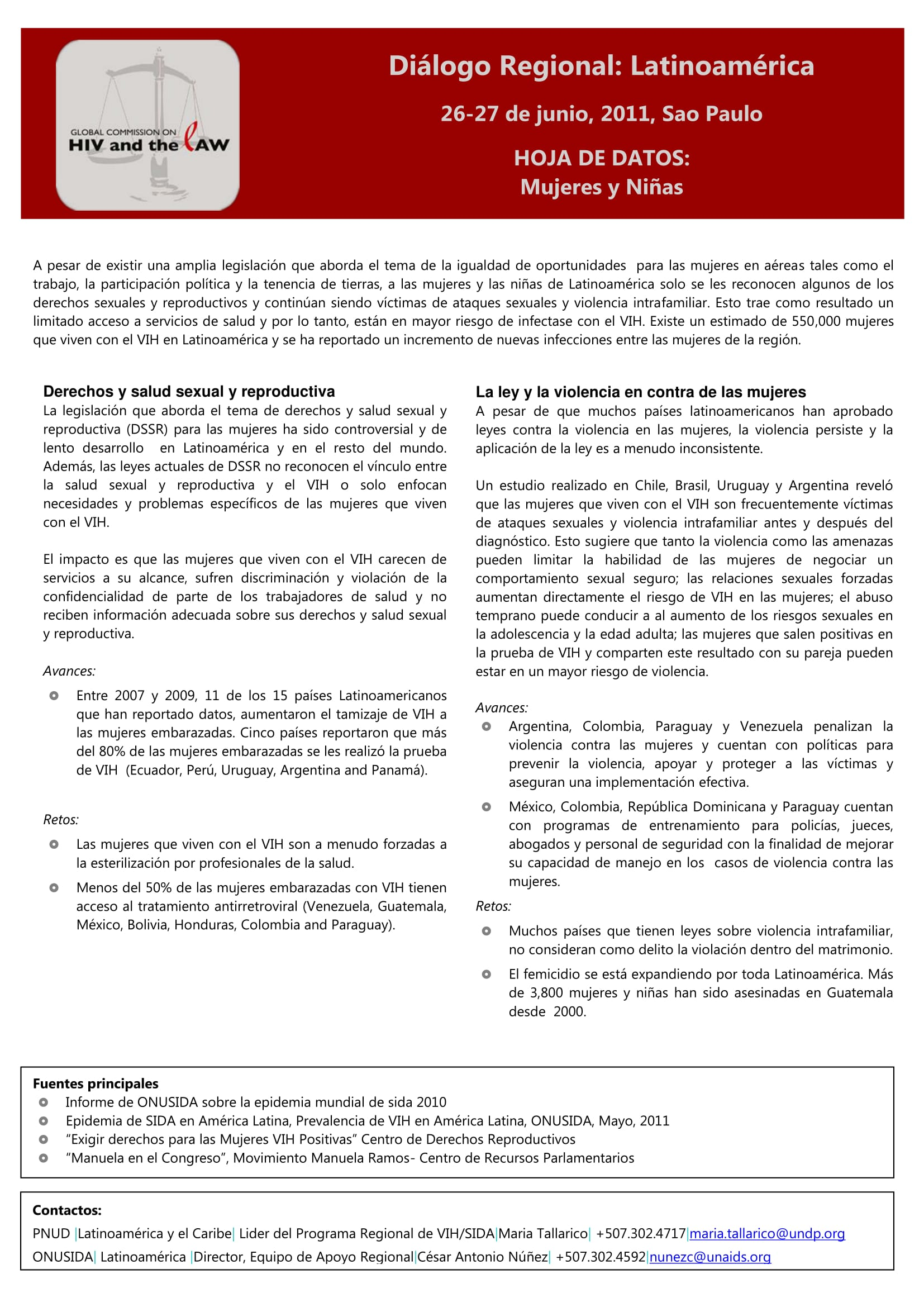 HIV and the Law in Latin America: Factsheet – Women and Girls