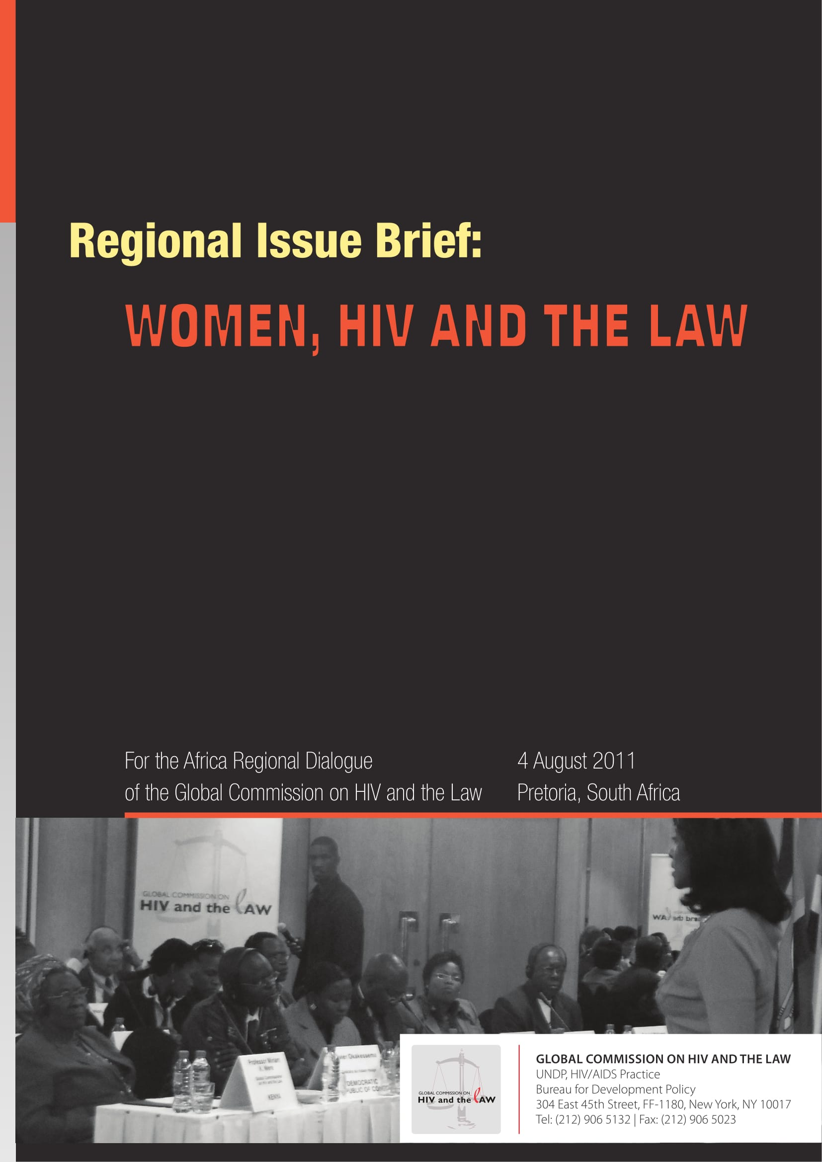 Regional Issue Brief: Women, HIV and the Law