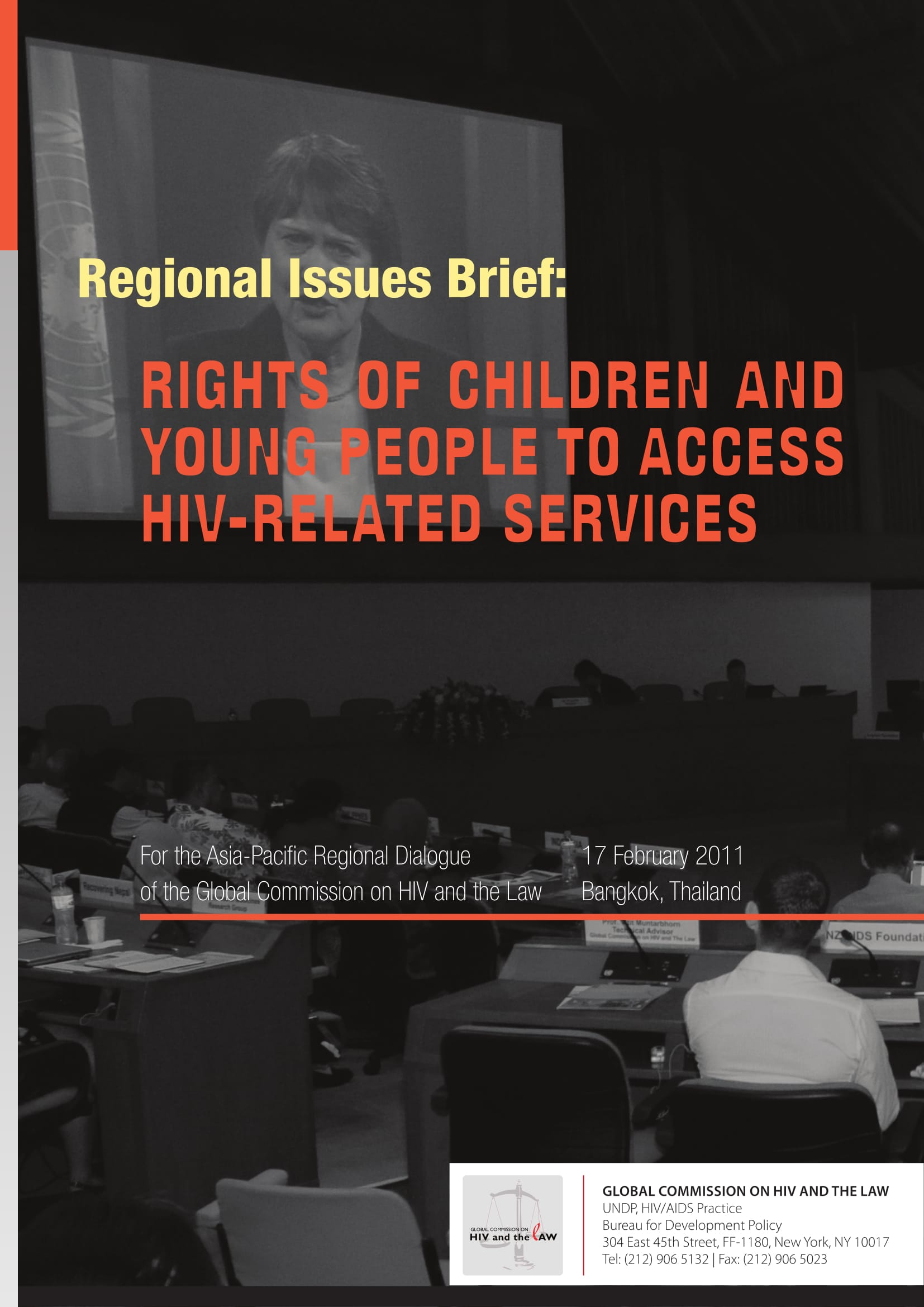 Regional issues brief: Rights of children and young people to access HIV-related services