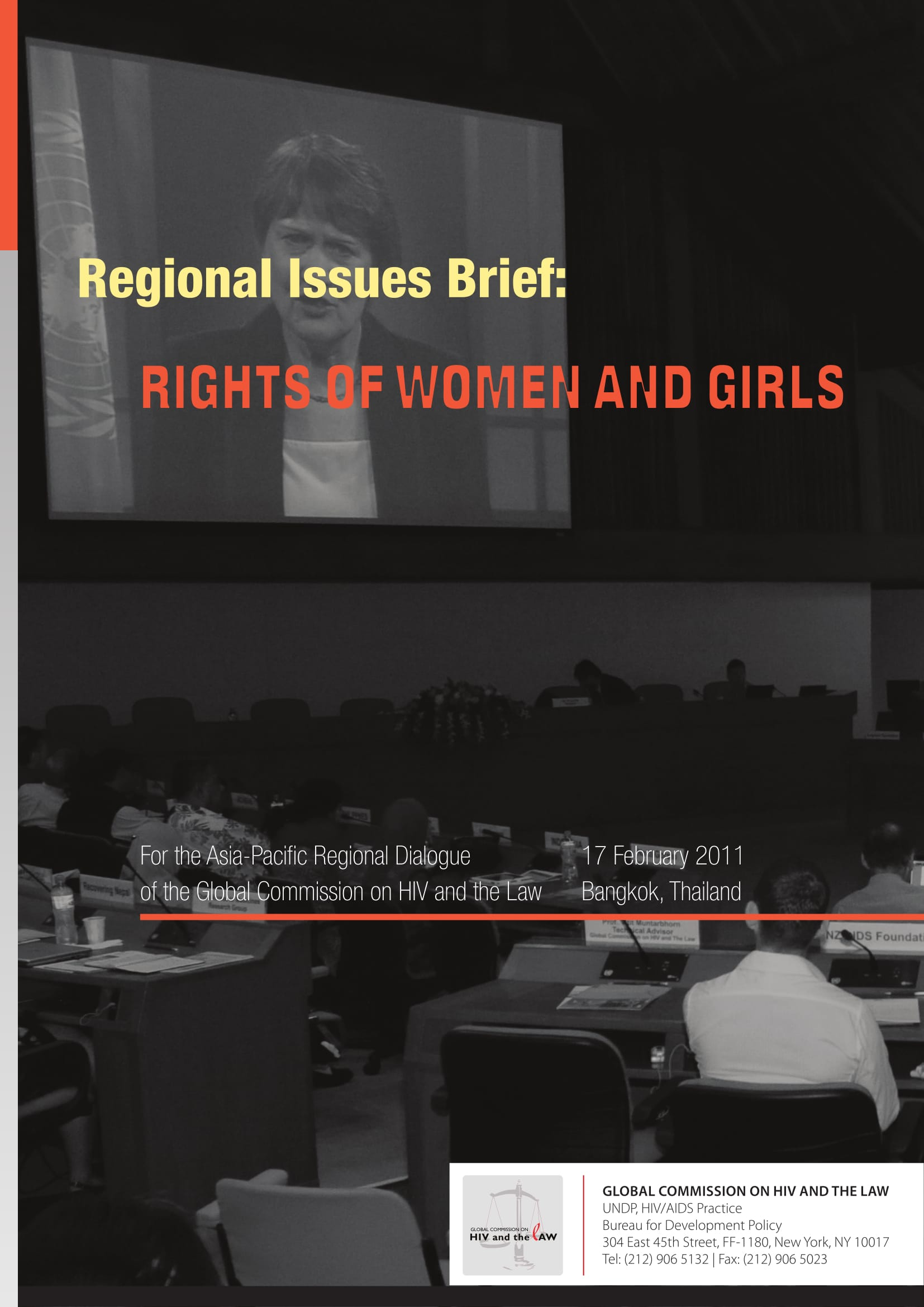 Regional issues brief: Rights of women and girls