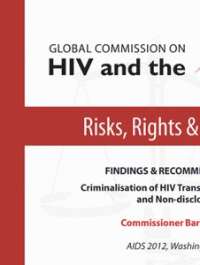 Findings and Recommendations: Criminalisation of HIV Transmission, Exposure and Non-disclosure