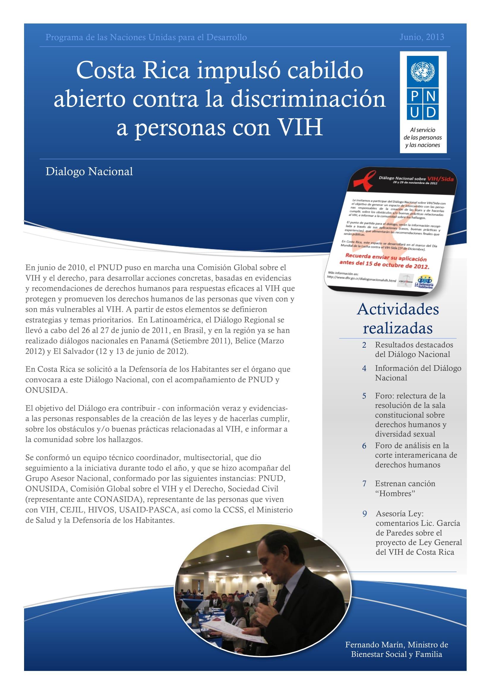Costa Rica impulsó cabildo abierto contra la discriminación a personas con VIH