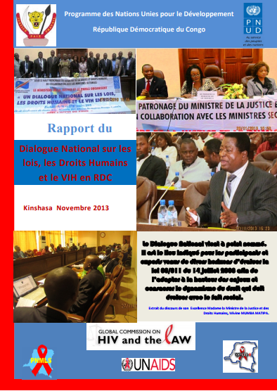 Democratic Republic of the Congo National Dialogue on HIV and the Law Report