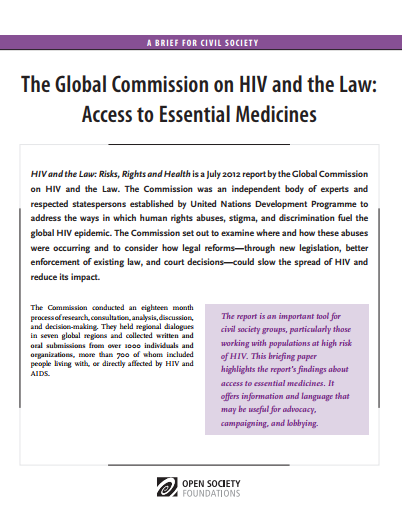 HIV and the Law: Access to Essential Medicines: Fact Sheet