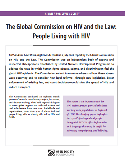 HIV and the Law: People Living with HIV: Fact Sheet