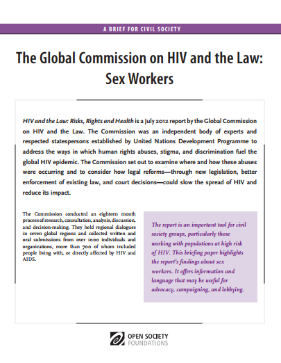 HIV and the Law: Sex Workers: Fact Sheet
