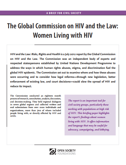 HIV and the Law: Women Living with HIV: Fact Sheet