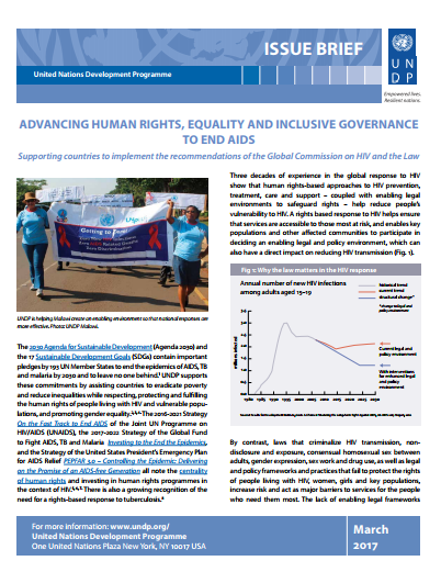 Issue brief: Advancing human rights, equality & inclusive governance to end AIDS