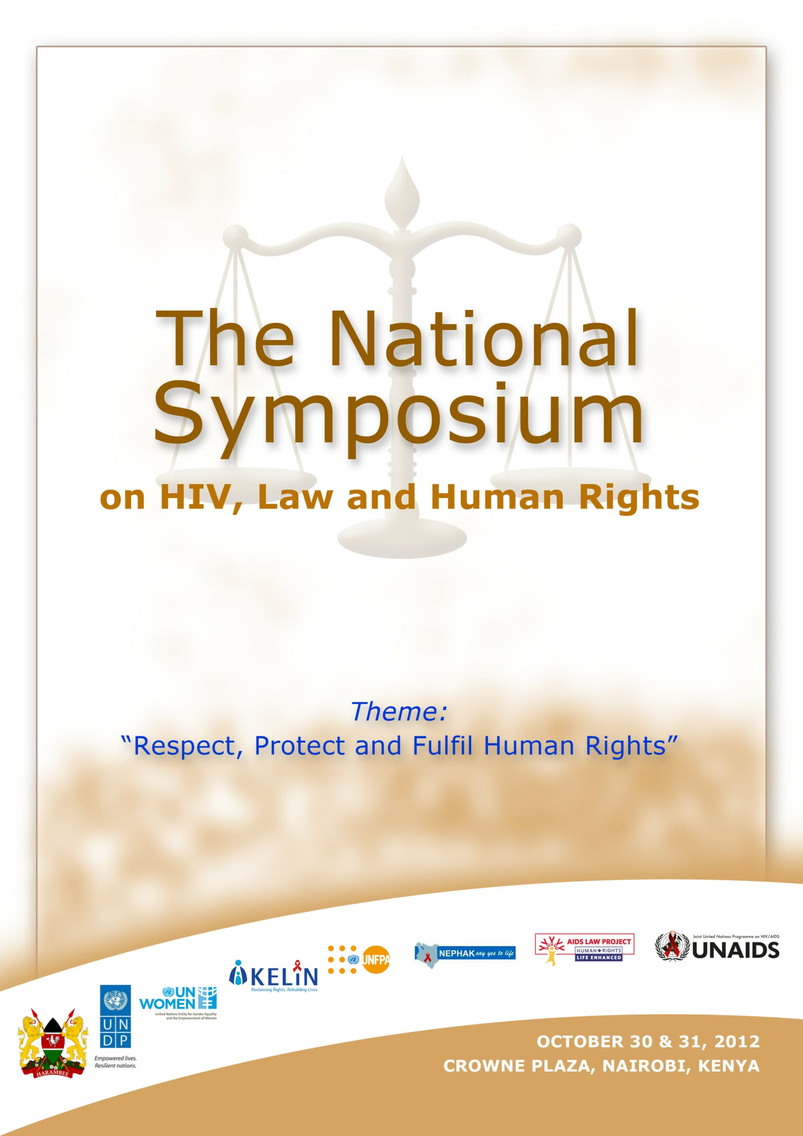 Kenya National Symposium on HIV, Law, and Human Rights: Meeting Report