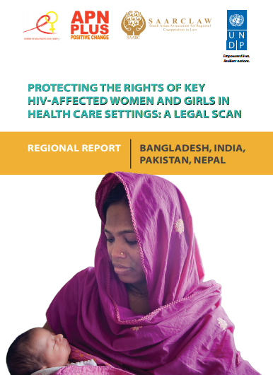 Protecting the rights of key HIV-affected women and girls in health care settings: A legal scan