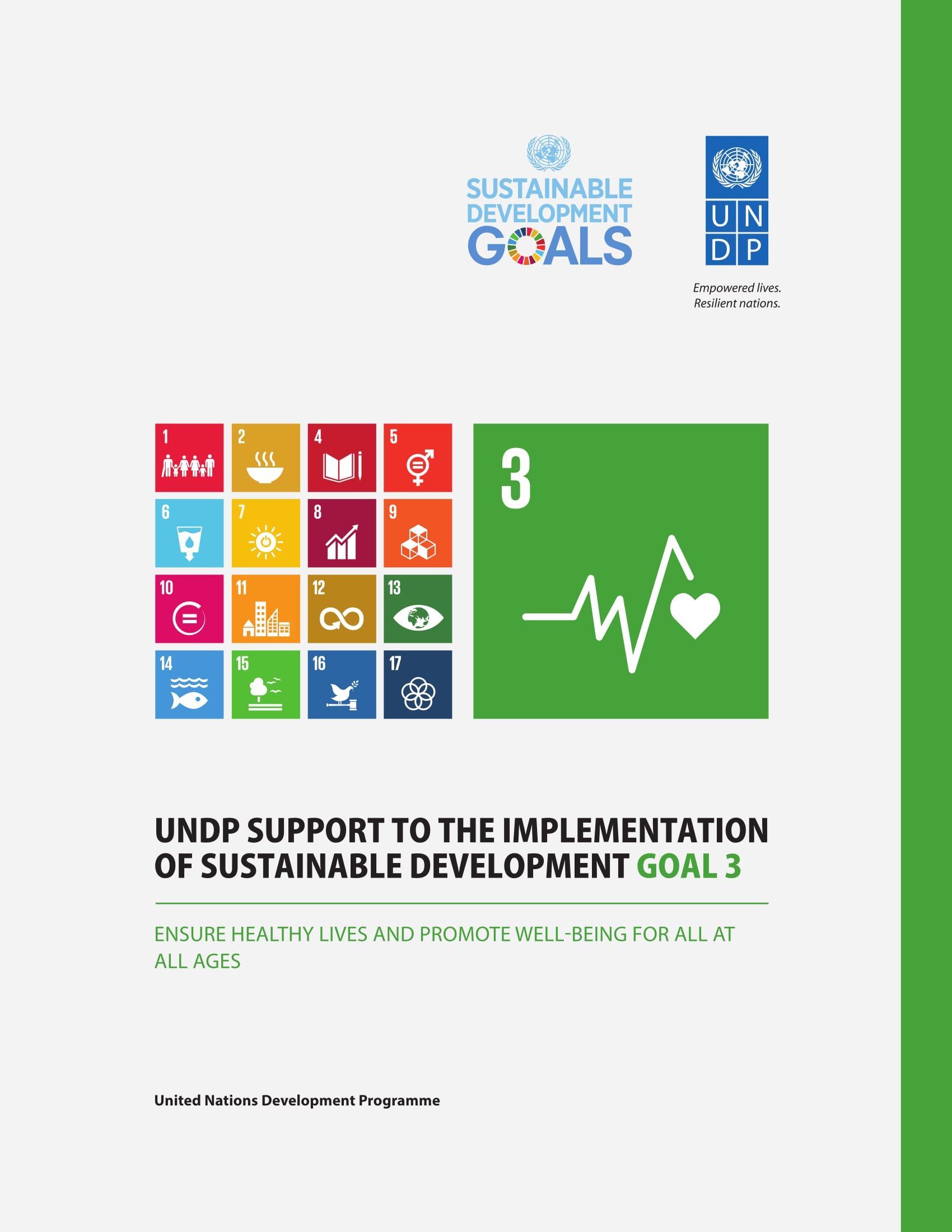 UNDP Support to the Implementation of Sustainable Development Goal 3