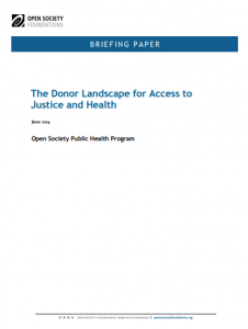 The Donor Landscape for Access to Justice and Health