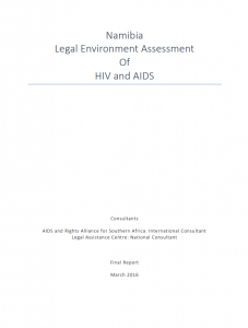 Namibia Legal Environment Assessment Of HIV and AIDS